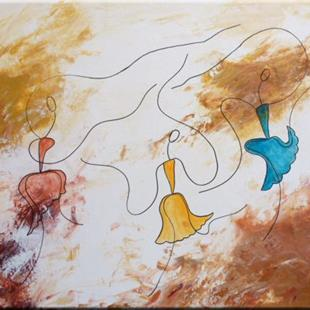 Art: ORIGINAL FIGURATIVE ABSTRACT PAINTING - SOLD by Artist Nataera