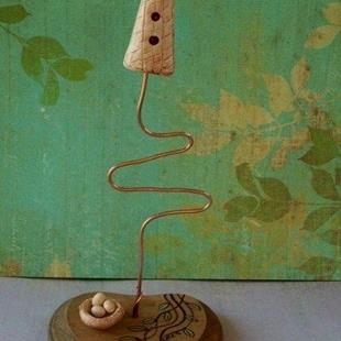 Art: Fairy Birdhouse Sculpture by Artist Sherry Key