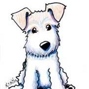 Art: Wire Fox Terrier by Artist KiniArt
