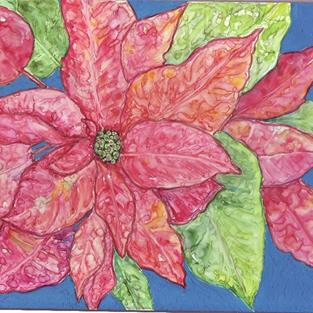 Art: Poinsettia - available in my Etsy Store by Artist Ulrike 'Ricky' Martin