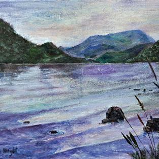 Art: A cold morning on Windermere by Artist John Wright