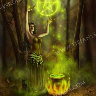 Art: Spirit of Samhain by Artist Tiffany Toland-Scott