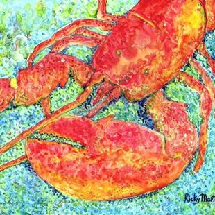Art: Red Lobster by Artist Ulrike 'Ricky' Martin
