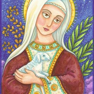 Art: MARY AND LAMB by Artist Susan Brack
