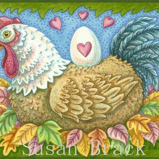 Art: HEN AND EGG by Artist Susan Brack