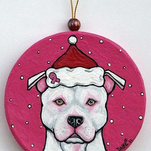 Art: Santa in the Pink by Artist Melinda Dalke
