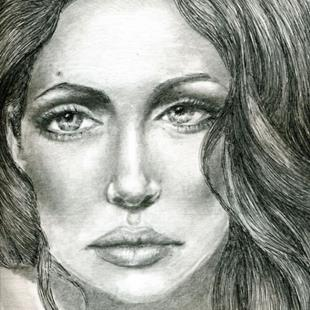 Art: Angelina the Perfect Muse by Artist Alma Lee