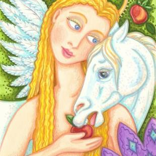 Art: PEGASUS AND EVE by Artist Susan Brack