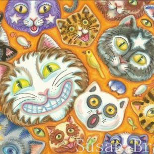 Art: CAT SOUP by Artist Susan Brack
