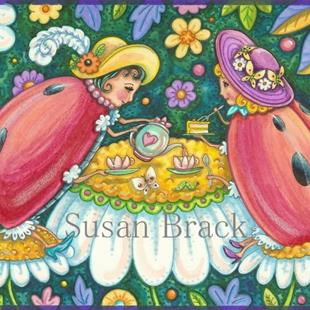 Art: TEA IN THE GARDEN by Artist Susan Brack