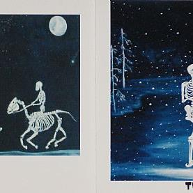 Art: Ghost Riders and The Skaters by Artist Kathy Hatt