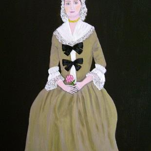Art: Colonial Lady (Sold) by Artist Fran Caldwell