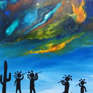 Art: Music At The Gathering by Artist Kathy Hatt