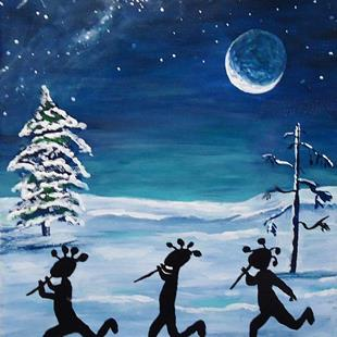 Art: The Winter Gathering by Artist Kathy Hatt