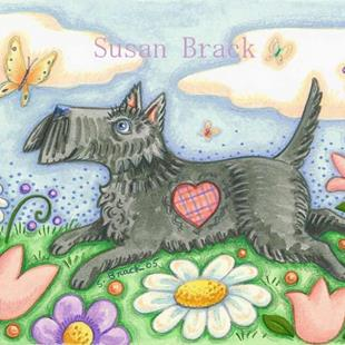 Art: BUTTERFLY CHASER by Artist Susan Brack