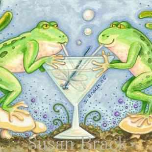 Art: DRAGONFLY MARTINI by Artist Susan Brack
