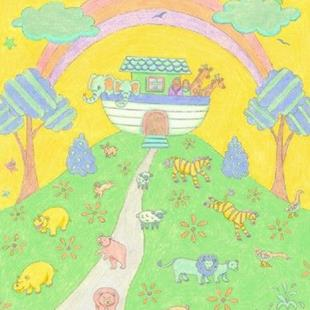 Art: NOAHS ARK RAINBOW by Artist Susan Brack
