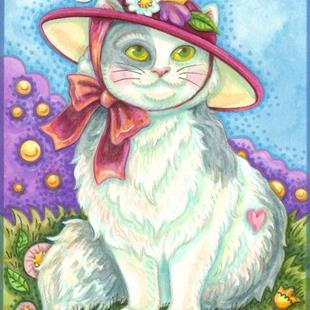 Art: KITTEN IN A RED HAT by Artist Susan Brack