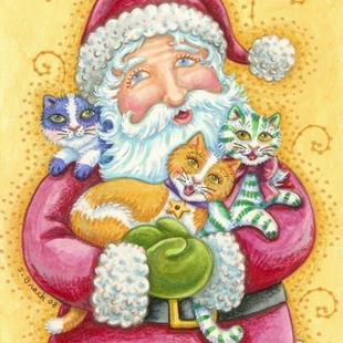 Art: JINGLE CAT CHRISTMAS by Artist Susan Brack