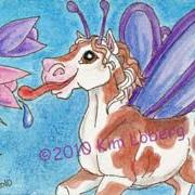 Art: Retro Paint Horse Fly - SOLD by Artist Kim Loberg