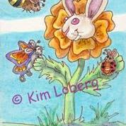 Art: Marigold Bunny & His Buggy Bunny Friends - SOLD by Artist Kim Loberg
