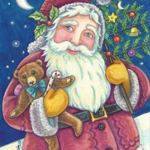 Art: JOLLY ST. NICK by Artist Susan Brack