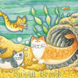Art: CATFISH CAVE by Artist Susan Brack