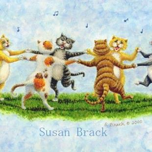 Art: CAT DANCE by Artist Susan Brack