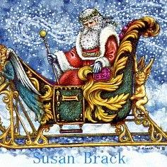 Art: ENCHANTED SLEIGH by Artist Susan Brack