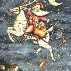 Art: HERE COMES ST NICK by Artist Susan Brack