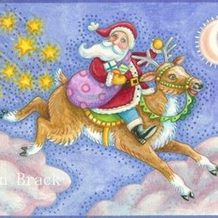Art: OLE ST NICK by Artist Susan Brack