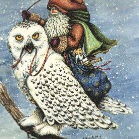Art: SNOW OWL by Artist Susan Brack
