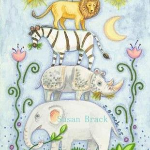 Art: JUNGLE MENAGERIE by Artist Susan Brack