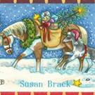 Art: CHINCOTEAGUE PONIES AND HOLIDAY WISHES by Artist Susan Brack