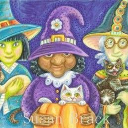 Art: WITCHES ON THE BLOCK by Artist Susan Brack