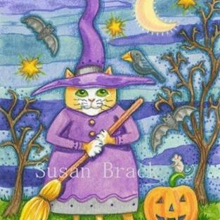 Art: WITCHY WHISKERS by Artist Susan Brack