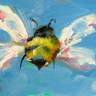 Art: Aceo Bee by Artist Delilah Smith