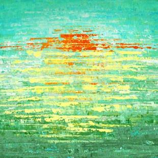 Art: Sunrise Over The Sea (s) by Artist Luba Lubin