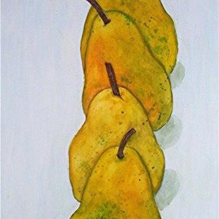 Art: 4 juicy pears by Artist Ulrike 'Ricky' Martin