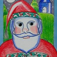 Art: Where Is Santa? by Artist Sherry Key