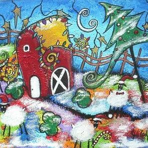 Art: A Barnyard Christmas by Artist Juli Cady Ryan