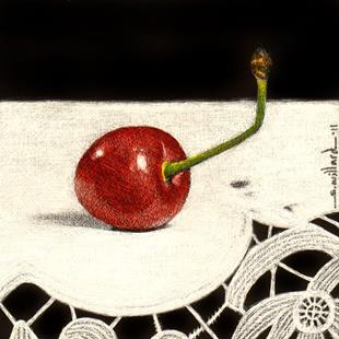 Art: Cherry III by Artist Sandra Willard