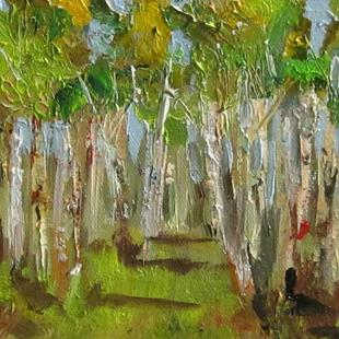 Art: Summer Birch by Artist Delilah Smith
