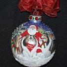 Art: Bark the Herald Six Sheltie's Sing 360 Christmas Ornament by Artist Lynnelily