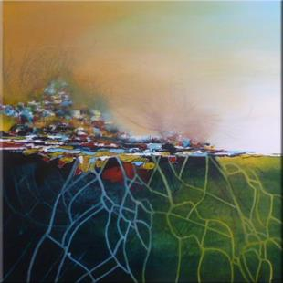 Art: ORIGINAL LANDSCAPE,ABSTRACT PAINTING - SOLD by Artist Nataera