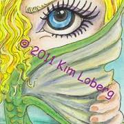 Art: Coy Mermaid SOLD by Artist Kim Loberg