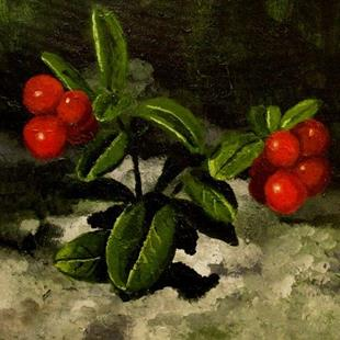 Art: Lingon berries by Artist Mats Eriksson