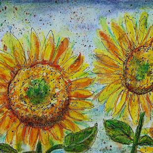 Art: Sunflower Day by Artist Melinda Dalke