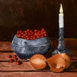 Art: Berries and onions by Artist Mats Eriksson