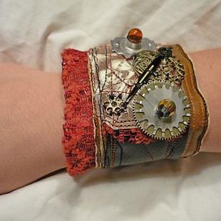 Art: Red Light Cuff by Artist Vicky Helms